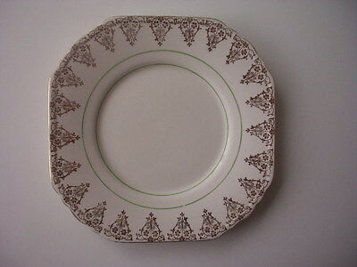 Bcm/nelson Ware - Cake/sandwich Plate - Gold & Green