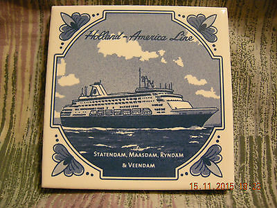 Holland  Coaster New W/coa And Pin Holland America Lines Netherlands