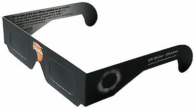 Total Solar Eclipse Glasses USA 2017 Sun Filter Viewer Shades CE ISO 5 Pack