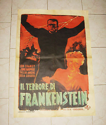 THE GHOST OF FRANKENSTEIN italian movie poster 1946 Universal horror Lon Chaney