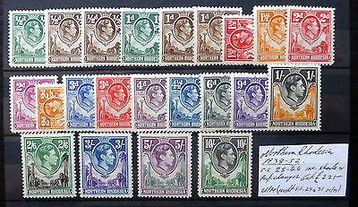 NORTHERN RHODESIA 1938 G.VI As Described Mainly U/M FP7786