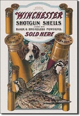 Winchester Metal Sign/Poster - Dog & Quail