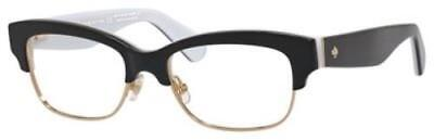 KATE SPADE Eyeglasses SHANTAL 0QOP Black White 52MM