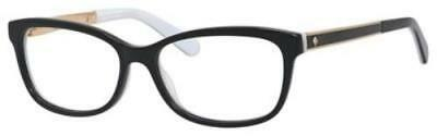 KATE SPADE Eyeglasses ANGELISA 0S0T Black White 53MM