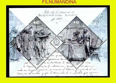 Argentine,argentina 2016 Independence Declaration S/sheet Special Coating Mnh