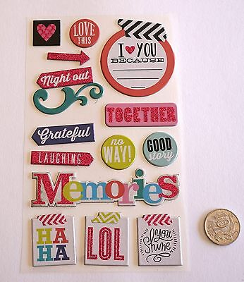 Scrapbooking No 497 - 15 Small To Medium Chipboard Friends Saying Stickers