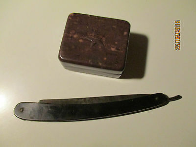 Ww Ii 1944 Soviet Russia Red Army Straight Razor + Box For Vaseline
