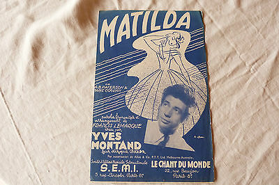 Partition MATILDA YVES MONTAND ref 454 08