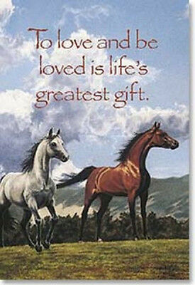 "LEANIN TREE ""Horses"" Magnet #25371~To Love & Be Loved is Life's Greatest Gift."