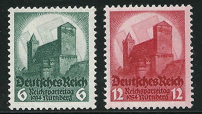 Germany Third Reich 1934 Nazi Party Congress at Nuremburg Set 12pf Exp. VF MNH!