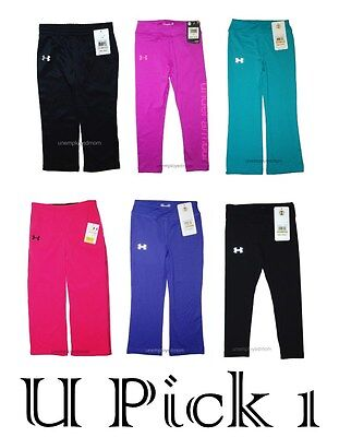 Leggings Under Armour Pants Girls UA Athletic Sports Youth Active Long Bottoms