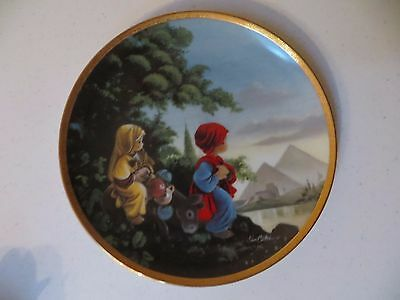 Precious Moments Bible Story Plate - The Flight Into Egypt