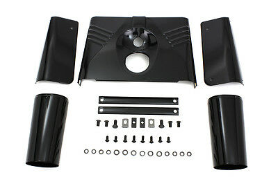 Triple Tree Cover Kit Black, KIT,for Harley Davidson motorcycles,by V-Twin