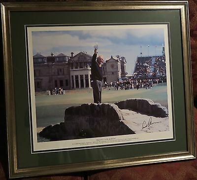 Framed Arnold Palmer  Farewell To The British Open Photo