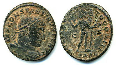Scarce bronze follis of Constantine the Great,  (307-337 AD), Arles, Roman Emp.