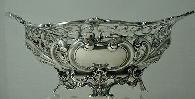 Gorham  Pierced Sterling Silver Basket, Monogramed