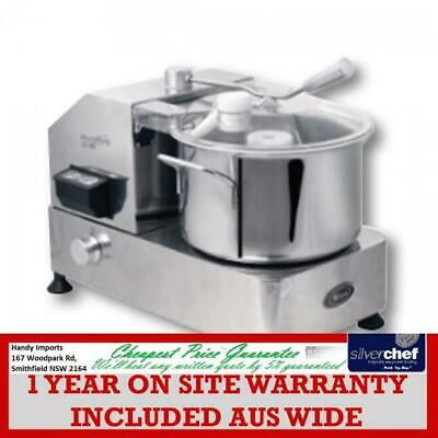 Fed Commercial S/Steel Compact Food Processor Process 6L See Through Lid Hr-6