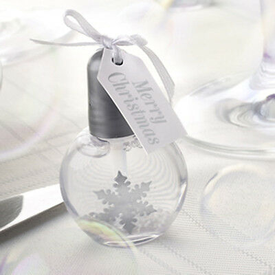 Shimmering SNOWFLAKE Christmas BUBBLES Table Decoration Xmas Party Confetti