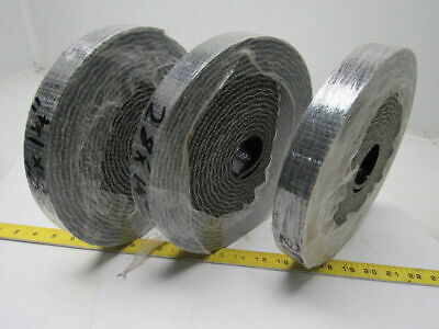 3 Rolls Of 1 Ply Black Interwoven Smooth Top Conveyor Belt 0.203""