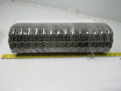 "Flat Wire Clinched Edge Conveyor Belt 1/2"" X 1"" Opening 55"" X 17-1/2"""