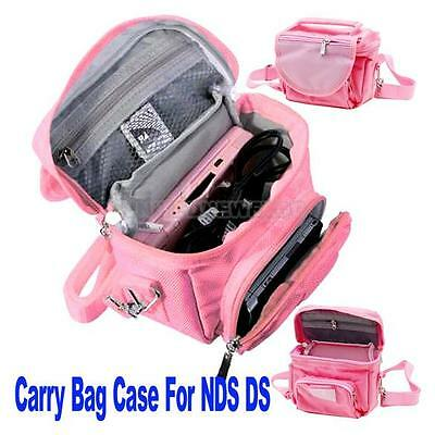 Waterproof Nylon Pink Travel Case Carry Pouch Bag for Nintendo 3DS DS LITE DSi