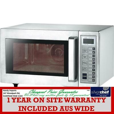 Fed Commercial 25L Microwave Oven 1000W Café Restaurant Takeaway Ceramic Fe-1100
