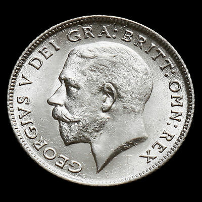 1923 George V Silver Sixpence – Rare – A/UNC