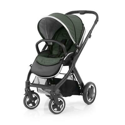 BabyStyle Oyster 2 Pushchair Satin Black (Olive Green) inc Apron and Rain Cover