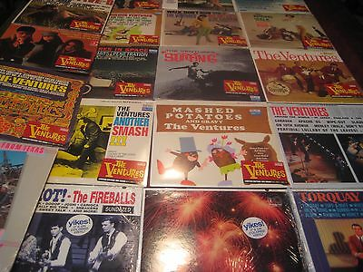 THE FIREBALLS VERSUS THE VENTURES Color Vinyl 21 LP SET SOME SELL OF $200 EACH