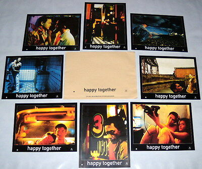 HAPPY TOGETHER 春光乍洩 Leslie Cheung Wong Kar-wai Tony Leung  8 FRENCH LOBBY CARDs