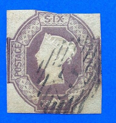 GB Queen Victoria 6d Embossed 3 Margins SG 60wi (cat £1000)