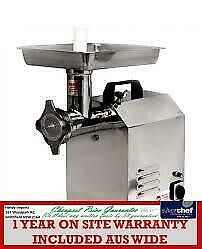 Fed Commercial 80Kg/Hr Electric Meat Mincer Stainless Steel Bench Grinder Tc 8