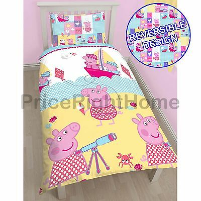 Peppa Pig Nautical Single Rotary Duvet Cover Set New Kids Bedding Free P+P