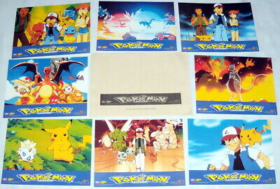 POKEMON  Kunihiko Yuyama japanimation Manga Pikachu 8 FRENCH LOBBY CARDs