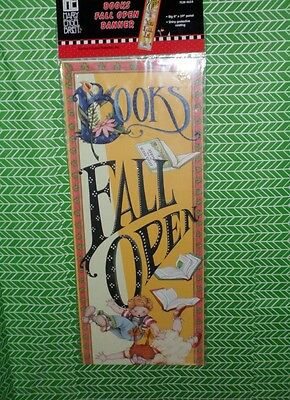 "Mary Engelbreit Banner MIP Books Fall Open You Fall In 8""x39"" Library Classroom"