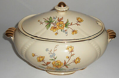 Taylor Smith Taylor Pottery Buttercup Soup Tureen - Very Rare
