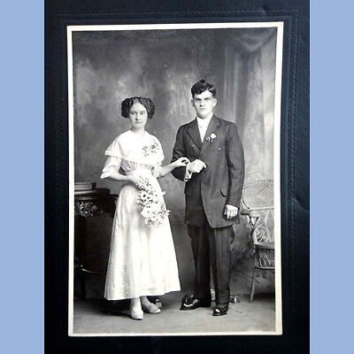 antique victorian WEDDING PHOTOGRAPH reading pa