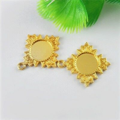 30*26*2mm Gold Plated Alloy Cameo Base Pendant Necklace Accessory Craft 20x