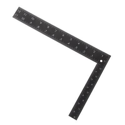 Square Stainless Steel Measure Ruler Engineer Carpenter Woodworking Black