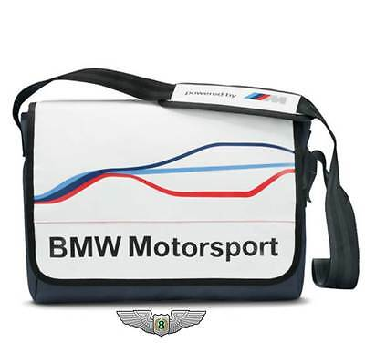 BMW New Genuine M Motorsport Messenger Shoulder Bag (White) 80222285881
