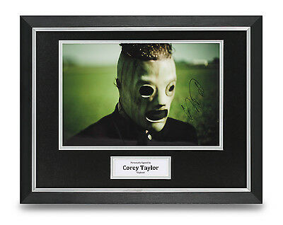 Corey Taylor Signed Photo Framed 16x12 Slipknot Autograph Memorabilia Display