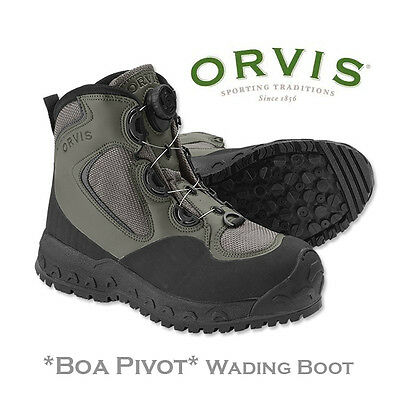 ORVIS BOA PIVOT Vibram Sole Wading Boot with Dial-in Adjuster for Perfect Fit
