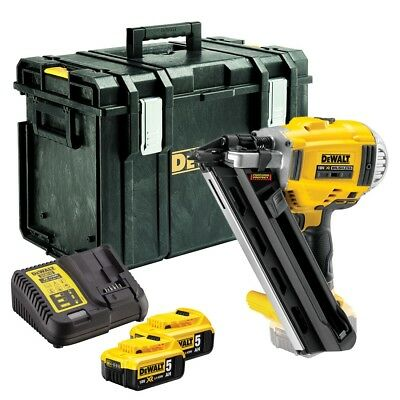DeWalt DCN692P2 1st Fix 90mm Gasless Framing Nailer 18v 5.0Ah DCB184
