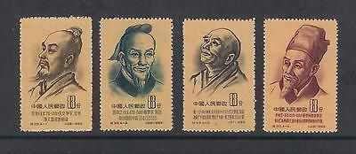 (MNHCN057) CHINA 1955 Ancient Scientists of China stamps set MNH