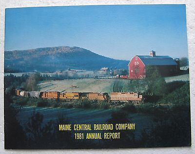Maine Central Railroad Company 1981 Annual Report