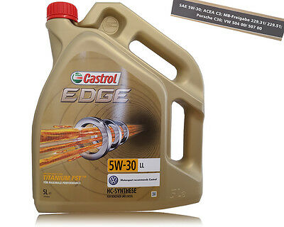 5L HUILE CASTROL EDGE 5w30 CADILLAC CTS