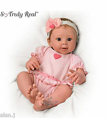 Ashton Drake 'Ella' Interactive Breathing -  poseable - weighted baby doll