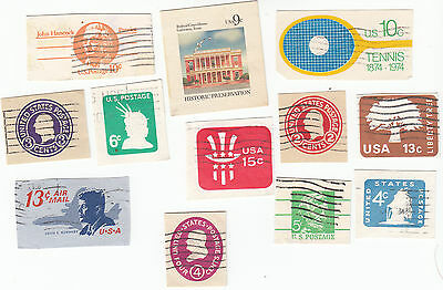Lot 803-US  Mixed lot of 12 old cut squares