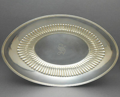 Antique Sterling Silver Wagoner Wilcox Caldwell S Monogram Oval Bread Tray 3902