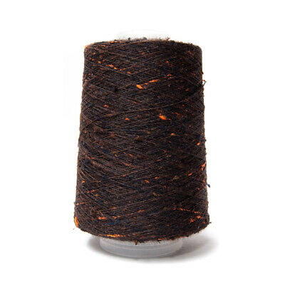 200G 1/15Nm Jaspe Tussah Silk Yarn Brown / Black / Orange Mix 53875